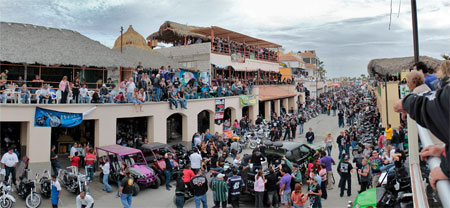 Bike Rally in Malecon Rocky Point Mexico